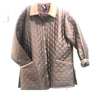 Austin Reed Olive Green Quilted Fall Coat Size M